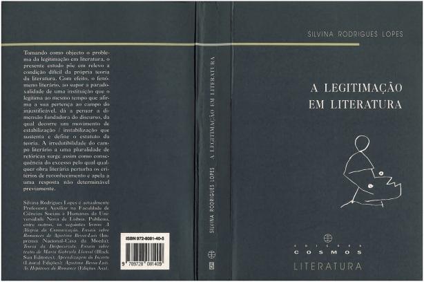 Páginas de A legitimação em Literatura A